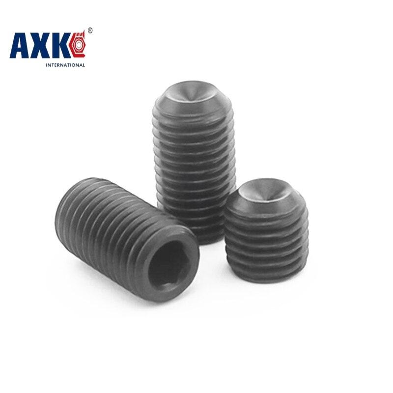 все цены на  100pcs/Lot M2x3 mm M2*3 mm 12.9 Alloy steel Hex Socket Head Cap Screw Bolts set screws with cup point  онлайн
