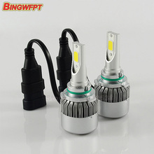 2pcs/pair car headlights HB3 9005 led projector fog lamp bulb 12V No Gear HID KIT 36W 3800LM easy install