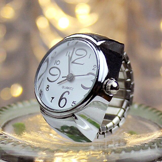 Dial Quartz Analog Watch Creative Steel Cool Elastic Quartz Finger Ring Watch 9.
