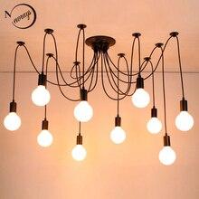 Lámpara colgante clásica Industrial de araña grande, 14 cabezas, led, E27, para sala de estar, restaurantes, cocina