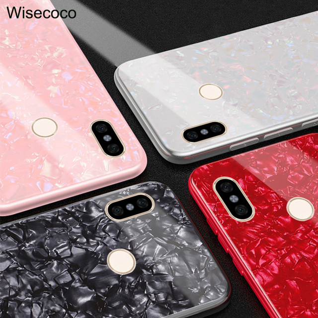 save off 973e6 aa275 US $4.96 |Tempered Glass Case For Xiaomi Redmi Note 5 Pro luxury Silicone  Bumper Marble Shell Hard Back Cover For xiomi Redmi Note 5 caso-in Fitted  ...