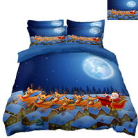 king size bed in a bag sets twin size 3D bedding set Pillowcase blue bed cover decorate Queen California king flat sheet