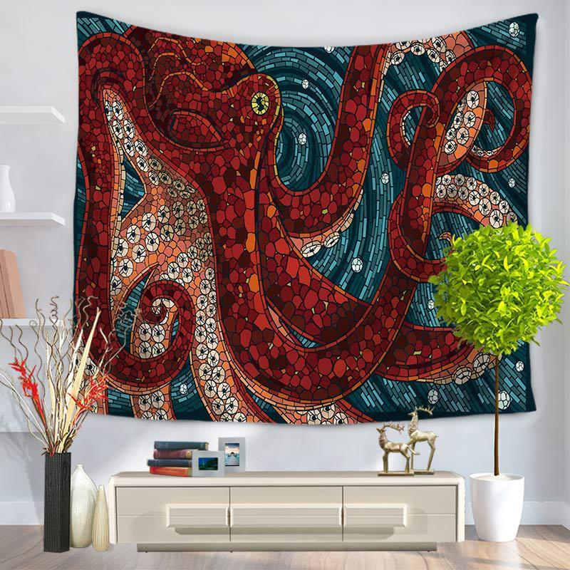 Mediterranean Octopus Wall Decor Tapestry Boho Wall Hanging Macrame Home Decorative Beach Mat Soft Yoga Mat Tapestry Aliexpress