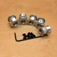 Free Shipping 10pcs 20teeth GT2 Timing Pulley Bore 5mm 10M High Quality GT2 Timing Belt For