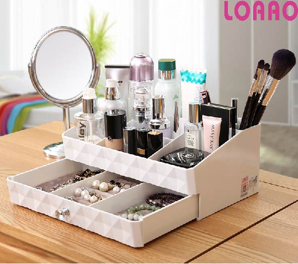 High quality makeup box home jewelry box case cosmetic storage