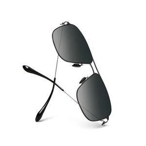 Image 4 - Xiaomi Mijia classic box Sun Glasses Pro box gradient gray classic square stainless steel frame polarized lens anti UV anti oil