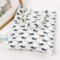 YILE Brand New Cotton Linen Eco Reusable Shoulder Bag Shopping Tote Print Cute Whales L244