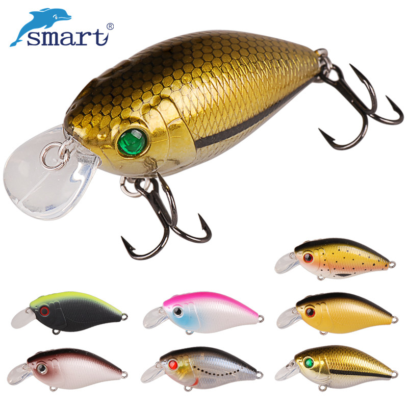 Smart Crank Bait 9.5g 55mm Floating Hard Fishing Lures VMC Hooks Artificiali Pesca Leurre Peche Mer Brouch Fishing Tackle noeby nbl9062 fishing lures 66g 140mm pencil sinking leurre peche mer brochet hard fishing bait