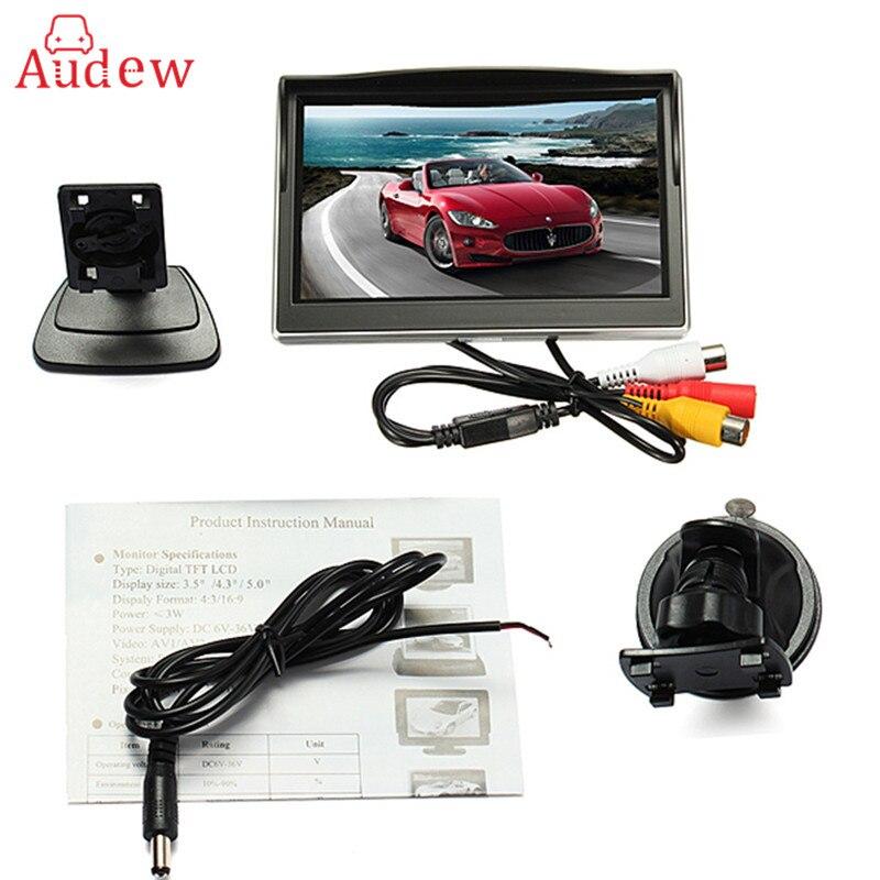imágenes para HD Coche de 5 Pulgadas TFT LCD a Color de Opinión Posterior Del Coche Sistema inversa de Visión Trasera 800*480 Monitor de Estacionamiento de Copia de Seguridad de La Cámara DVD Del Coche 12 V