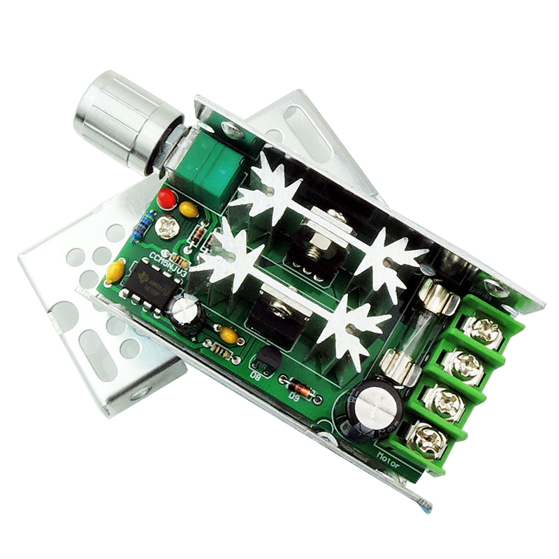 NEW 12V-60V PWM DC Motor Speed Controller Regulator Switch Frequency 10A 400W 20a universal dc10 60v pwm hho rc motor speed regulator controller switch l057 new hot