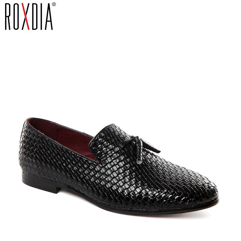 ROXDIA Male Loafers Driver-Shoes Grey Black Korean Blue Fashion Flats Casual Stylish