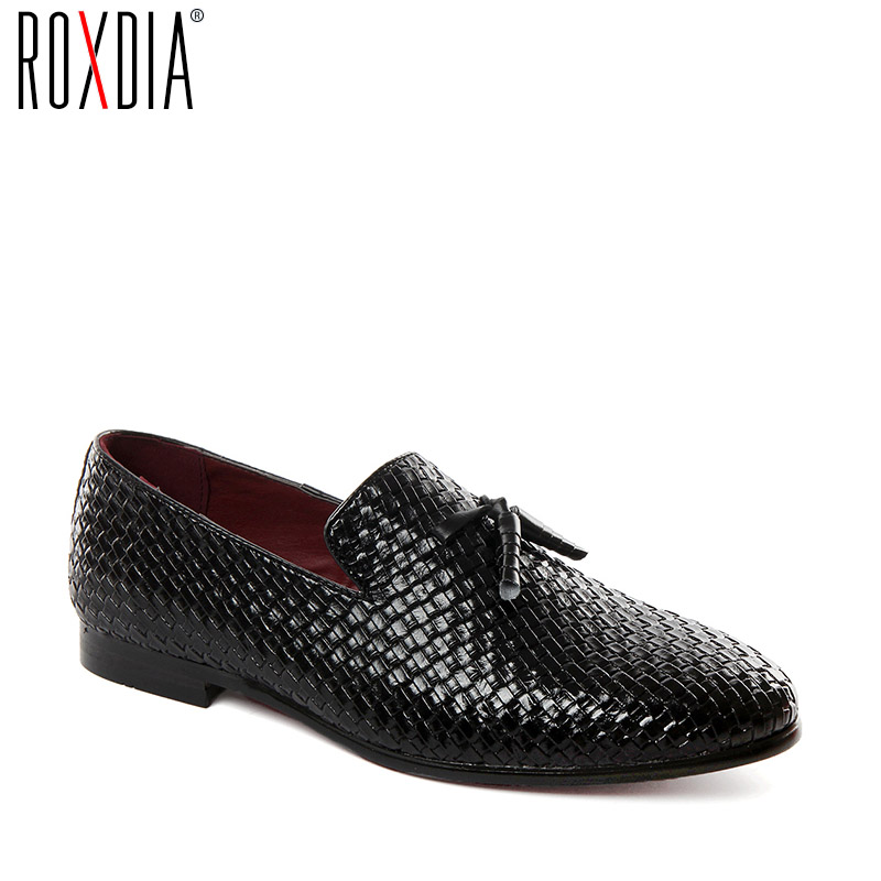 Roxdia Plus Size 39-48 Leather Korean Men Shoes Fashion Stylish Male Loafers Casual Flats Driver Shoes Black Blue Grey Rxm091 Skillful Manufacture Men's Shoes Back To Search Resultsshoes