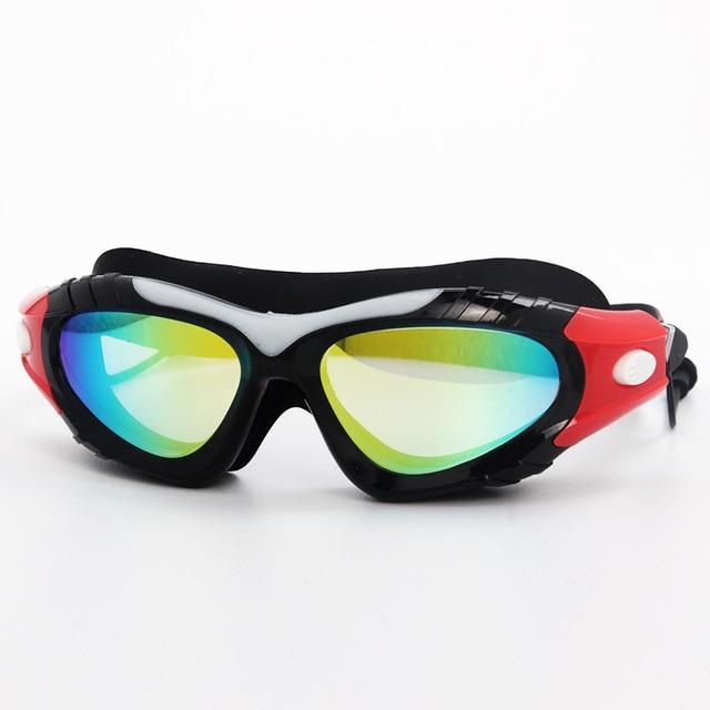 7ac296bb13 Profesional Anti niebla gafas de natación recubrimiento niños nadar gafas  hombres mujeres niños deportes del bebé