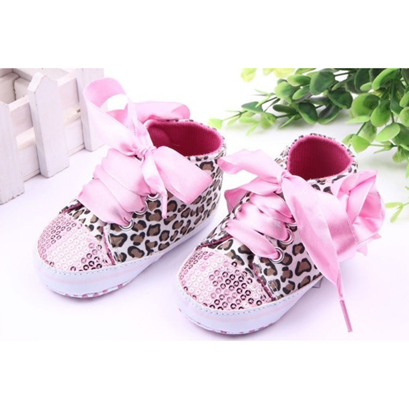 6ff9dad94a3a3 New Infant Toddler Leopard Sequins Sneakers Baby Girls Soft Sole Crib Shoes  3 6 Months 11cm pink-in First Walkers from Mother   Kids on Aliexpress.com  ...