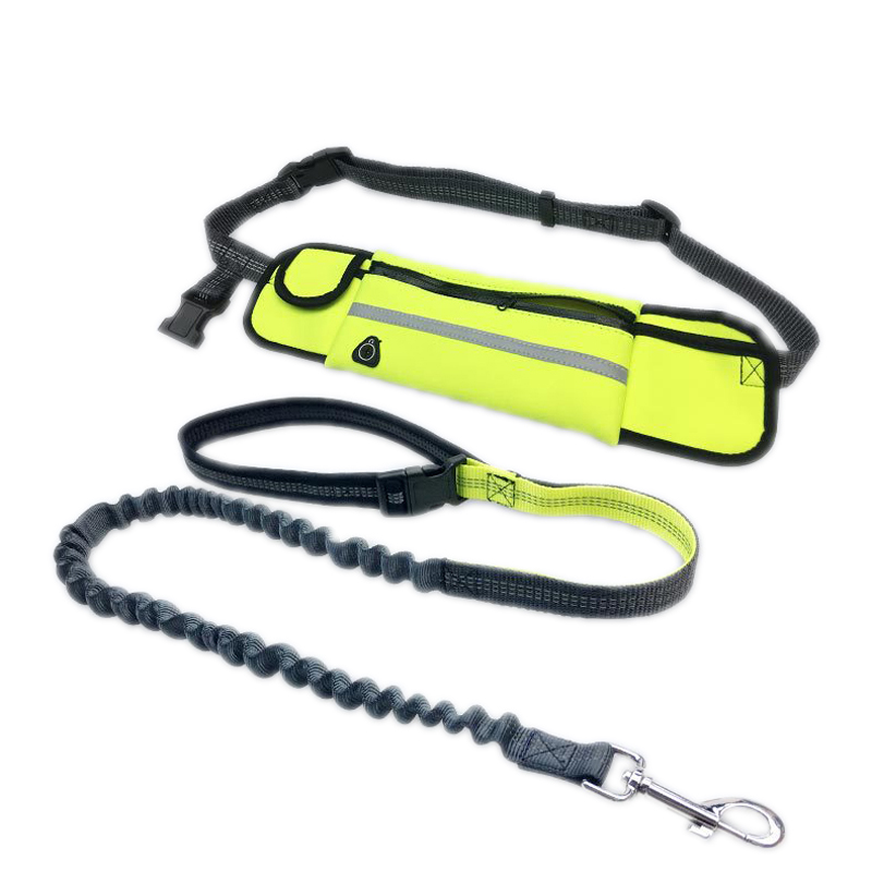 Dogs Leash Running Elasticity Hands Free Pet Accessories Dog Leashes Collar Jogging Lead Adjustable Strap Waterproof Waste Bag