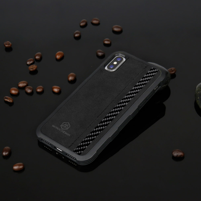 Luxury  Carbon Fiber Case For iPhone X