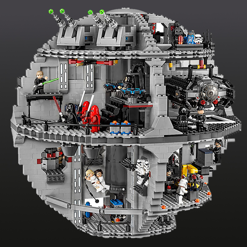 New Lepin 05063 4016pcs Star Series Wars Death Star Building Block Bricks Toys Kits Compatible with Legoing 75159 lepin 05063 05035 star classic model wars building blocks 4016pcs death ucs star building block bricks toys kits compatible
