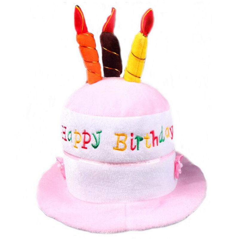 Birthday Cake Hat Children Adults Boy Girl Candle Party Hats Festival Dress Decoration In From Home Garden On