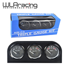 WLR RACING - 52mm Electrial Triple Kit(Voltmeter+oil Temp Gauge+Oil Pressure Gauge)Sensor Temperature Or Water Temperature Gauge