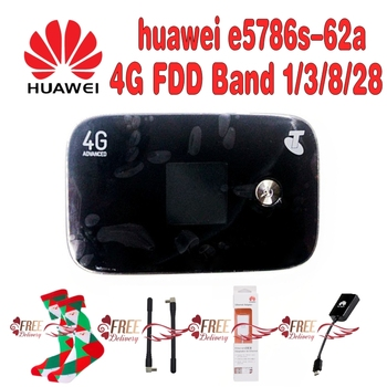 Unlocked New Original HUAWEI  E5786s-62a 4G LTE Advanced CAT6 300Mbps 4G Pocket WiFi Router mobile hotspot Cotton Christmas Wome