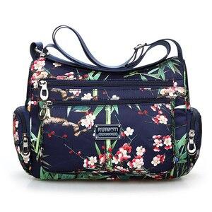 Image 2 - Landelijke Stijl Bloemen Schoudertas Voor Vrouwen 2020 Bloem Afdrukken Crossbody Tassen Lichtgewicht Meer Ritsen Messenger Bag