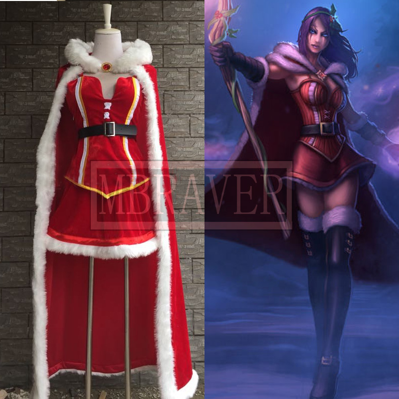 LOL LeBlanc cosplay costume customize any size Free Shipping