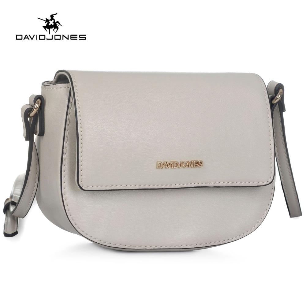 DAVIDJONES women crossbody bag small messenger mini saddle femal Shoulder Bags designer brand handbags evening purse