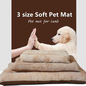 Advanced Big Washable Pets Mat Pad Cushion for Large Dog Kennel Cat Dog Puppy Bedding Nest Foldable Warm Pet Dog Bed 3 Size