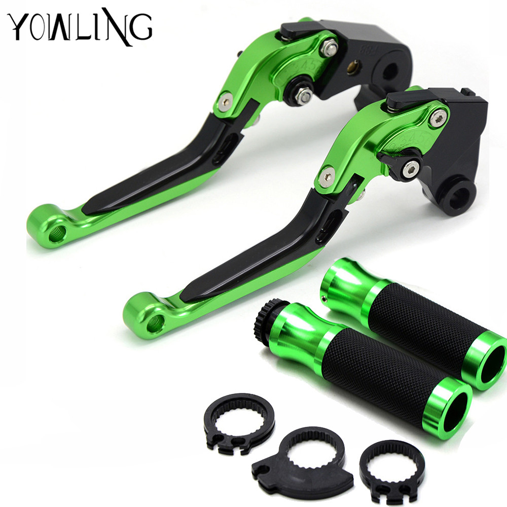 motorcycle 22MM handlebar handle bar grips brake clutch levers For Kawasaki ninja zx6r zx9r zx12r z800 z1000 z750 Z250 ER6N