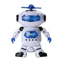 Kids Dancing Robert Toys Plastic Electronic Walking Dancing Smart Space Robot Astronaut Children Fun Music Light