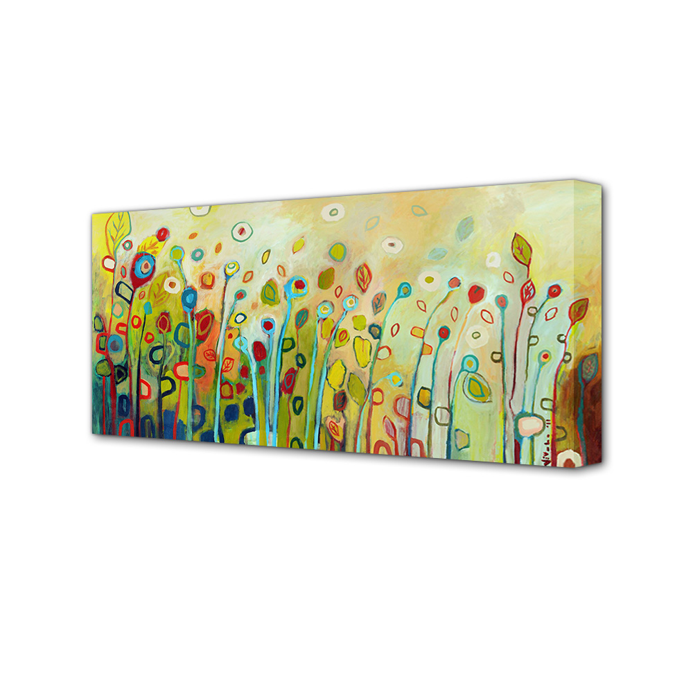 Wild Flowers Oil Painting Fabric Canvas Modern Wall Art Landscape ...