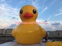 6 м желтый пластик Уток Большой Желтая надувная утка гигантские надувные мультфильм рекламы плавающей желтая утка