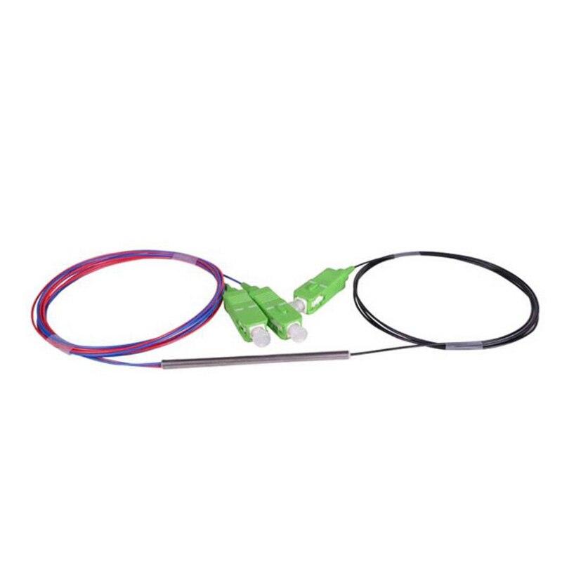 bilder für SCAPC 1X2 PLC Singlemode-glasfaser Optische splitter FTTH PLC stahlrohr typ SCAPC1x2 PLC glasfaser-splitter FBT optische Paar