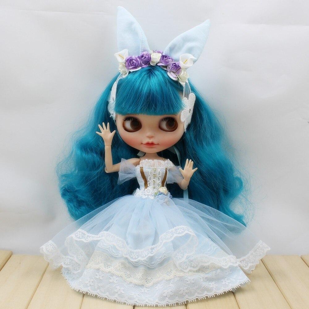 Neo Blythe Doll Wedding Dress With Rabbit Headdress 7