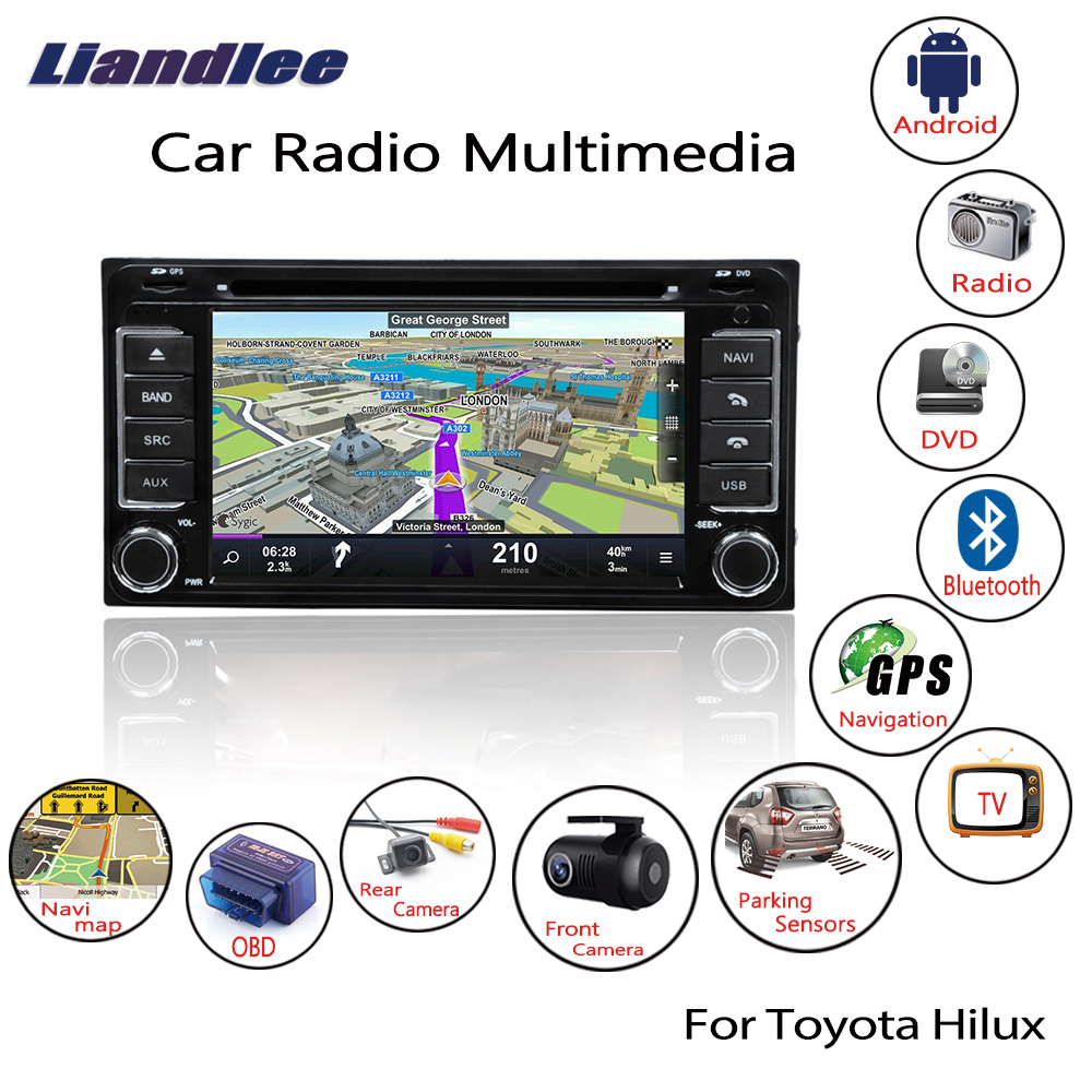 Liandlee For Toyota Hilux 2005 2011 Android Car Radio CD DVD Player GPS Navi Navigation Maps