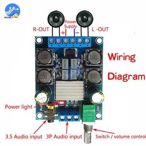 Image 4 - TPA3116D2 Audio Digital Amplifier Board 2X50W DC 4.5 27V Dual Channel Stereo Volume Control Class D Sound Speaker Board HIFI