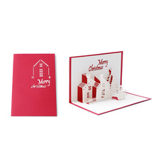 Buy gift card occasions and get free shipping on aliexpress 2017 handmade 3d greeting cards christmas cottage snowman for all occasion christmas gift feb2830china m4hsunfo