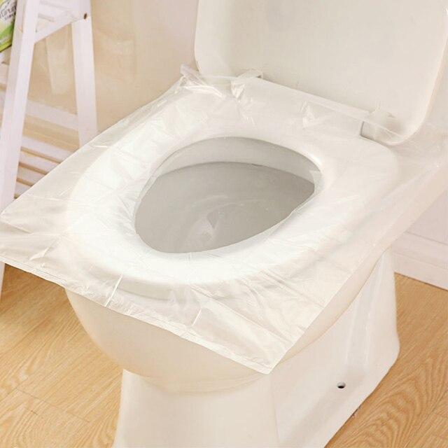1 Borsa 10 pz/lotto Viaggi monouso toilet seat cover mat 100% impermeabile carta