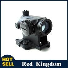 Mini 1X24 Rifescope Sniper de Visée Lumineux Rouge Green Dot Sight Avec Quick Release Red Dot Portée Mont Pour chasse Air