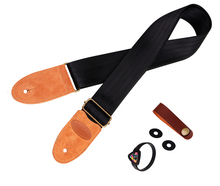 Nylon Guitar Strap with Suede leather Head Acoustic ukulele Folk Jazz Guitar Bass Strap Musical Instrument Accessories