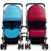 Detachable Twins Baby Strollers Infants BB Cart Double Shockproof Lightweight Pram Multiple Baby Stroller seat 2 In 1 for Twins