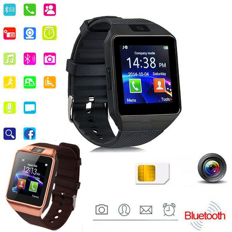 Bluetooth Smart Watch Android Call Mobile MS SIM Card TF Camera for IOS