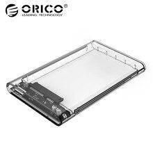 ORICO 2139U3 прозрачный 2,5 дюймовый корпус HDD Sata к USB 3,0 высокоскоростной адаптер Корпус жесткого диска для samsung Seagate SSD
