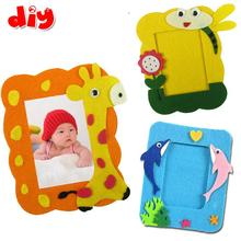 5 PCs DIY handmade fabric photo frame sticker toys Kids Child 3D sticker for cloth cartoon