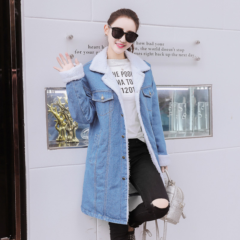 купить Fengmeisi 2017 Women Jacket Coat Denim Fleece Warm Ukraine Cotton Autumn Winter Fashion Casual Fashion Down Parkas Coats P3687 дешево
