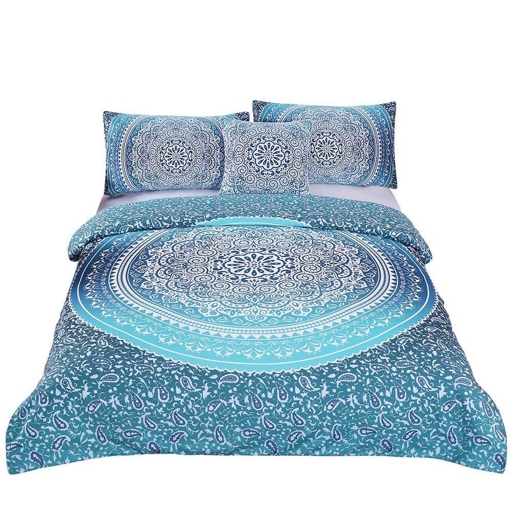 WARM TOUR DHL 4 Pcs Bohemian Luxury Boho Bedding Crystal Arrays Bedding Quilt Bedspread Mandala Hippie Duvet Cover Set