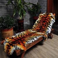 Imitate the tiger fur Tiger skin rug fur wool carpets bedroom living room European style whole sheepskin cushion sofa cushion