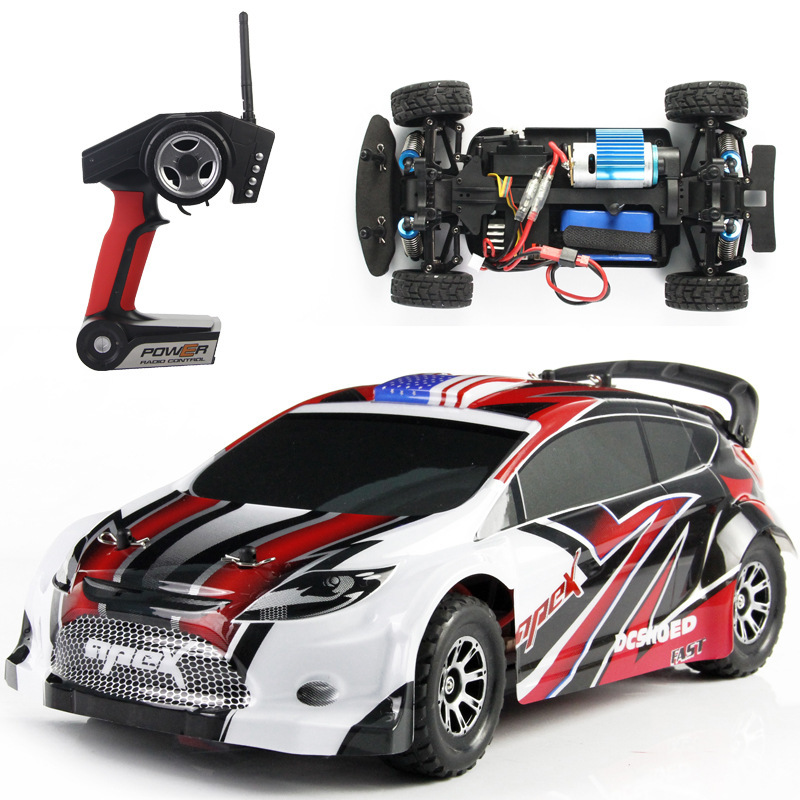 Wltoys A949 RC Car 1/18 2.4Gh 4WD Scale suitable for indoor and outdoor control Four-wheel independent suspension Rally Car