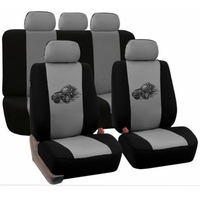 Customized Automobiles Seat Covers Full Car Seat Cover Universal Fit Interior Accessories Protector Gray Car Styling