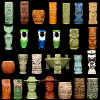 1 pc Hawaii Tiki Mugs Cocktail Cup Beer Beverage Mug Wine Mugs Tumblers Ceramic Tiki Mugs Great For Whiskey Drink Party Cups